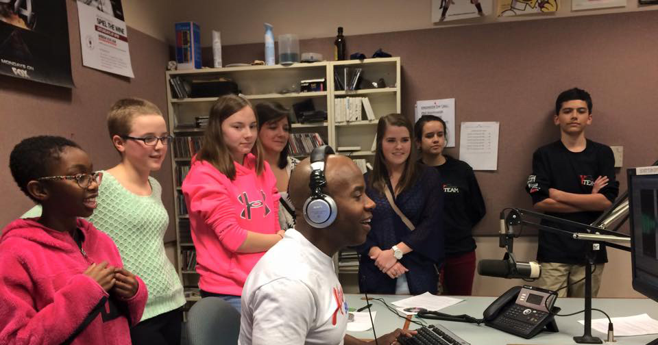 Cleve Hill Students at the Kiss 98.5 Studio