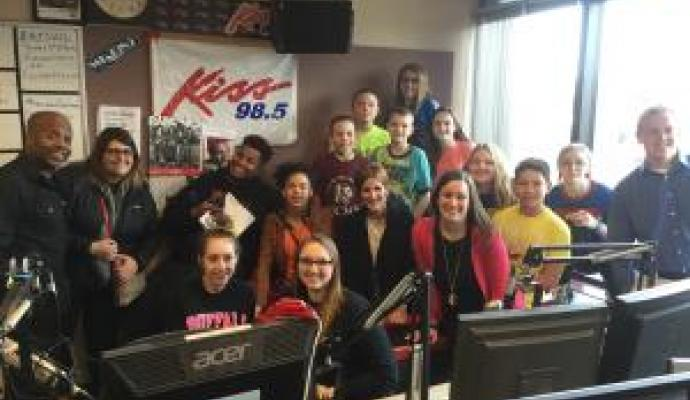 Cheektowaga Students Visit the Kiss 98.5 Studio