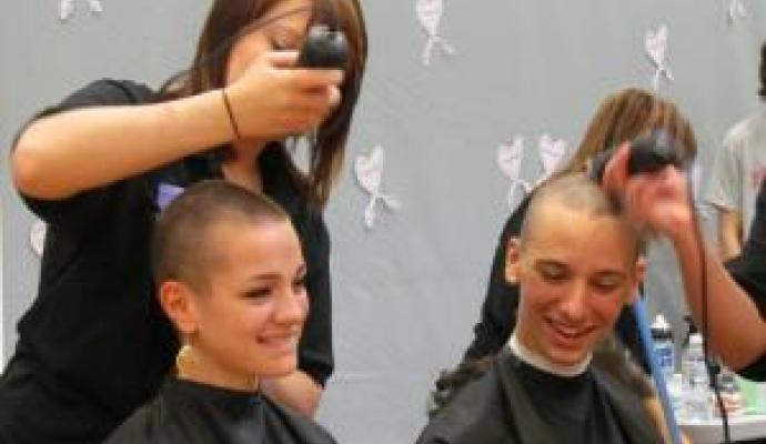West Seneca Students Goin' Bald for Bucks