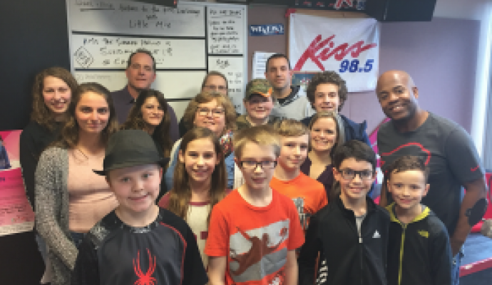 North Collins Students Visit the Kiss 98.5 Studio