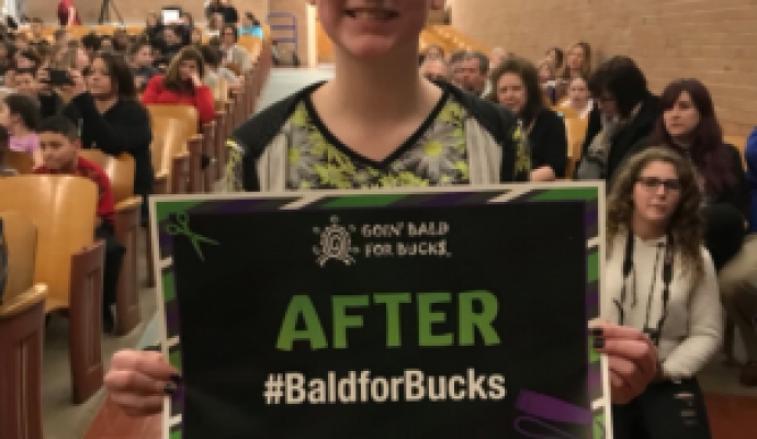 79th Street School Students Go Bald for Bucks