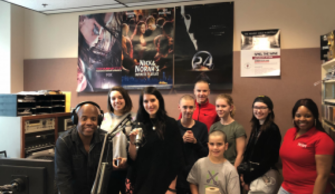Olmsted School 156 Students Visit the Kiss 98.5 Studio