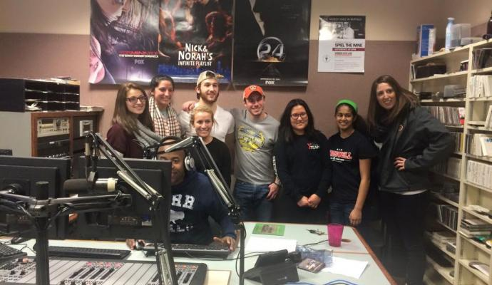 Buff State Athletes in the Kiss 98.5 Studio