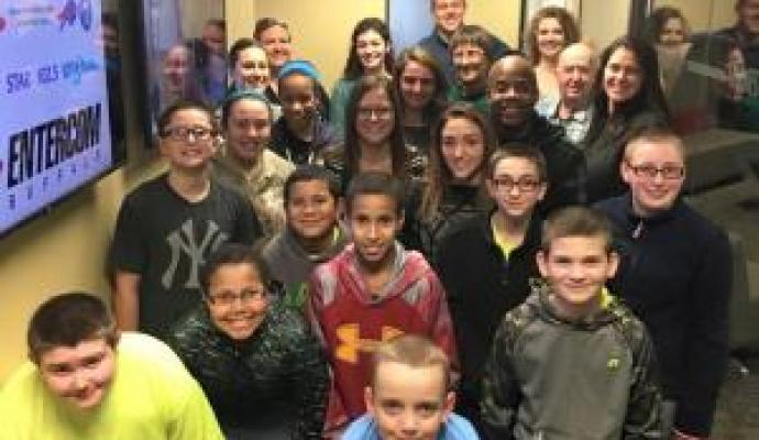 Forestville Elementary Students Visit the Kiss 98.5 Studio