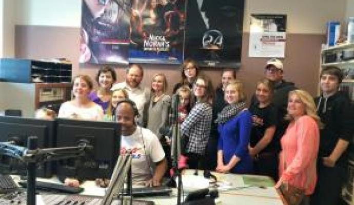 Lake Shore Students at the Kiss 98.5 Studio